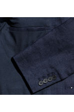 Linen jacket Slim fit - Dark blue - Men | H&M CA 3
