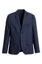 Linen jacket Slim fit - Dark blue - Men | H&M CA 2