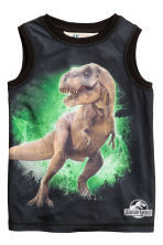 Printed vest top - Black/Jurassic World -  | H&M 2