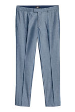 Chambray trousers Slim fit - Blue - Men | H&M CN 2