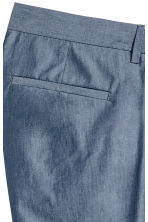 Chambray trousers Slim fit - Blue - Men | H&M 4