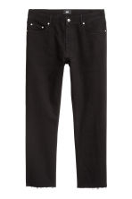 Slim Regular Cropped Jeans - Black denim - Men | H&M 2