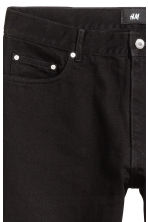 Slim Regular Cropped Jeans - Black denim - Men | H&M 4