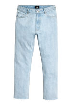Slim Regular Cropped Jeans - Blu denim chiaro - UOMO | H&M IT 2