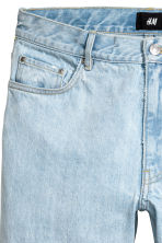 Slim Regular Cropped Jeans - Light denim blue - Men | H&M 4