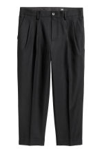 Cotton twill suit trousers - Black - Men | H&M CN 2