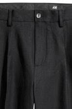 Cotton twill suit trousers - Black - Men | H&M CN 4