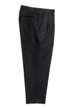 Cotton twill suit trousers - Black - Men | H&M CN 3