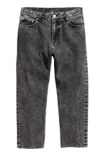 Straight Cropped Jeans - Black washed out - Men | H&M 2