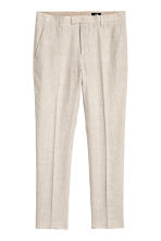 Linen suit trousers Slim fit - Natural white - Men | H&M 2
