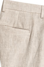 Linen suit trousers Slim fit - Natural white - Men | H&M 4