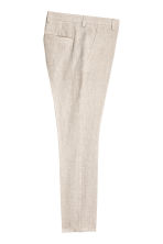 Linen suit trousers Slim fit - Natural white - Men | H&M 3