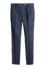 Linen suit trousers Slim fit - Dark blue - Men | H&M CN 3