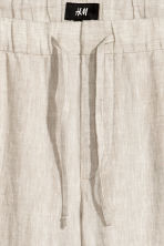 Wide trousers - Natural white -  | H&M 4