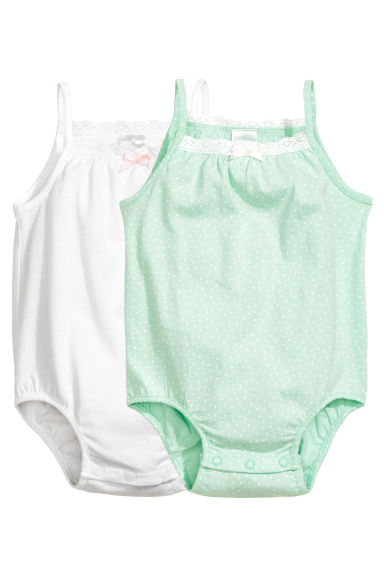 2-pack sleeveless bodysuits - White -  | H&M 1