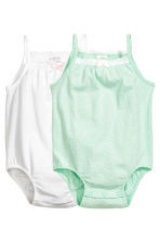 2-pack sleeveless bodysuits - White -  | H&M CN 1