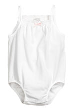 2-pack sleeveless bodysuits - White -  | H&M 2