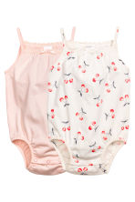 Lot de 2 bodies sans manches - Rose clair -  | H&M FR 1