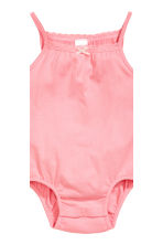2-pack sleeveless bodysuits - Powder pink/Strawberries -  | H&M 3