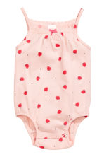 2-pack sleeveless bodysuits - Powder pink/Strawberries -  | H&M 2