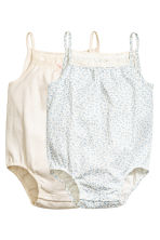 2-pack sleeveless bodysuits - Light beige -  | H&M CN 1