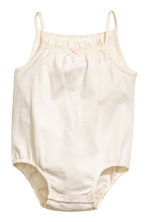 2-pack sleeveless bodysuits - Light beige -  | H&M CN 2