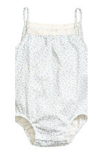 2-pack sleeveless bodysuits - Light beige -  | H&M CN 3