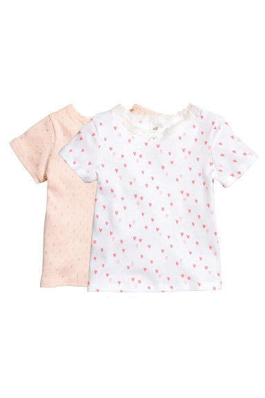 Top a costine, 2 pz - Rosa cipria - BAMBINO | H&M IT 1