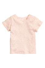 2-pack ribbed tops - Powder pink - Kids | H&M 2
