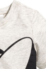 Printed top - Light grey/Minnie Mouse - Kids | H&M CN 2