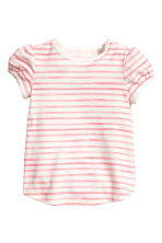 2-pack tops - Natural white/Pink/Striped - Kids | H&M 2