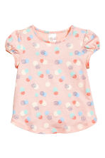 2-pack tops - Powder pink/Spotted -  | H&M CN 2