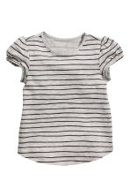 Lot de 2 tops - Gris/rayé -  | H&M FR 2