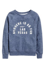 Printed sweatshirt - Dark blue marl - Ladies | H&M 2