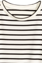 寬版上衣 - White/Black striped -  | H&M 3
