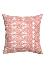 Patterned cushion cover - Dusky pink - Home All | H&M CN 2
