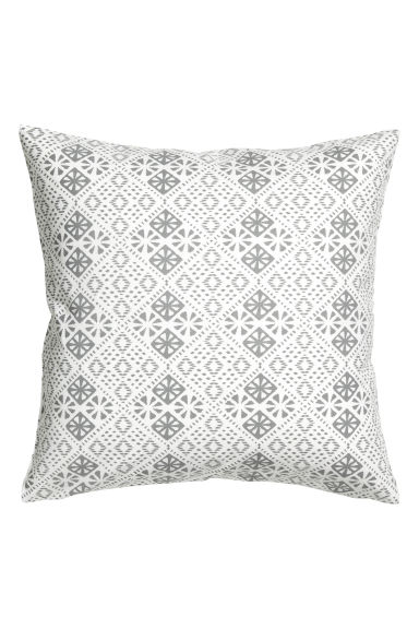 Patterned cushion cover - 白色 - Home All | H&M CN 1