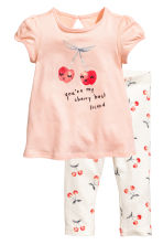 Dress and leggings - Powder pink - Kids | H&M CA 1