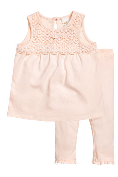 Dress and leggings - Powder pink - Kids | H&M 1