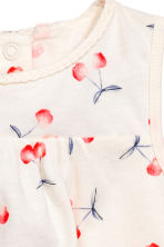 Patterned jersey dress - White/Cherry - Kids | H&M CN 2