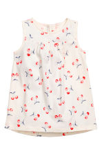 Patterned jersey dress - White/Cherry - Kids | H&M CN 1