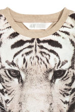 Printed T-shirt - Beige/Tiger -  | H&M 3