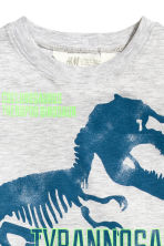 Printed T-shirt - Grey/Dinosaur - Kids | H&M 3