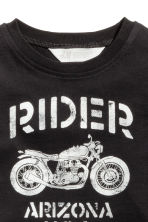 Printed T-shirt - Black/Motorcycle -  | H&M 3