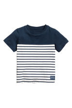 Printed T-shirt - Dark blue/Striped -  | H&M 2