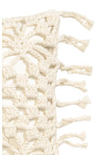 Crochet-front cushion cover - White - Home All | H&M CN 2