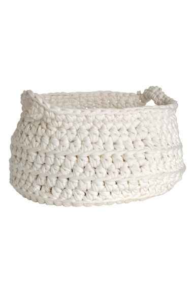 Crocheted storage basket - White - Home All | H&M CN