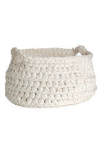 Crocheted storage basket - White - Home All | H&M CN 1