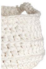 Crocheted storage basket - White - Home All | H&M CN 2