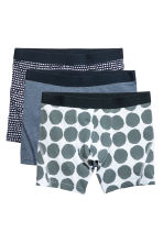 3-pack boxer shorts - Dark blue/Spotted - Men | H&M 2